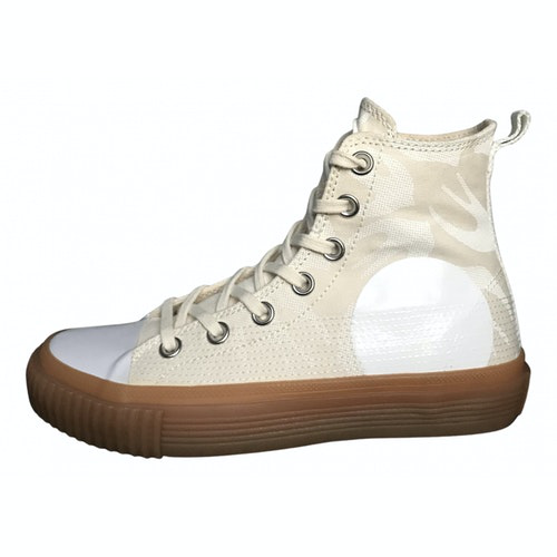 Pre-owned Mcq By Alexander Mcqueen Beige Cloth Trainers