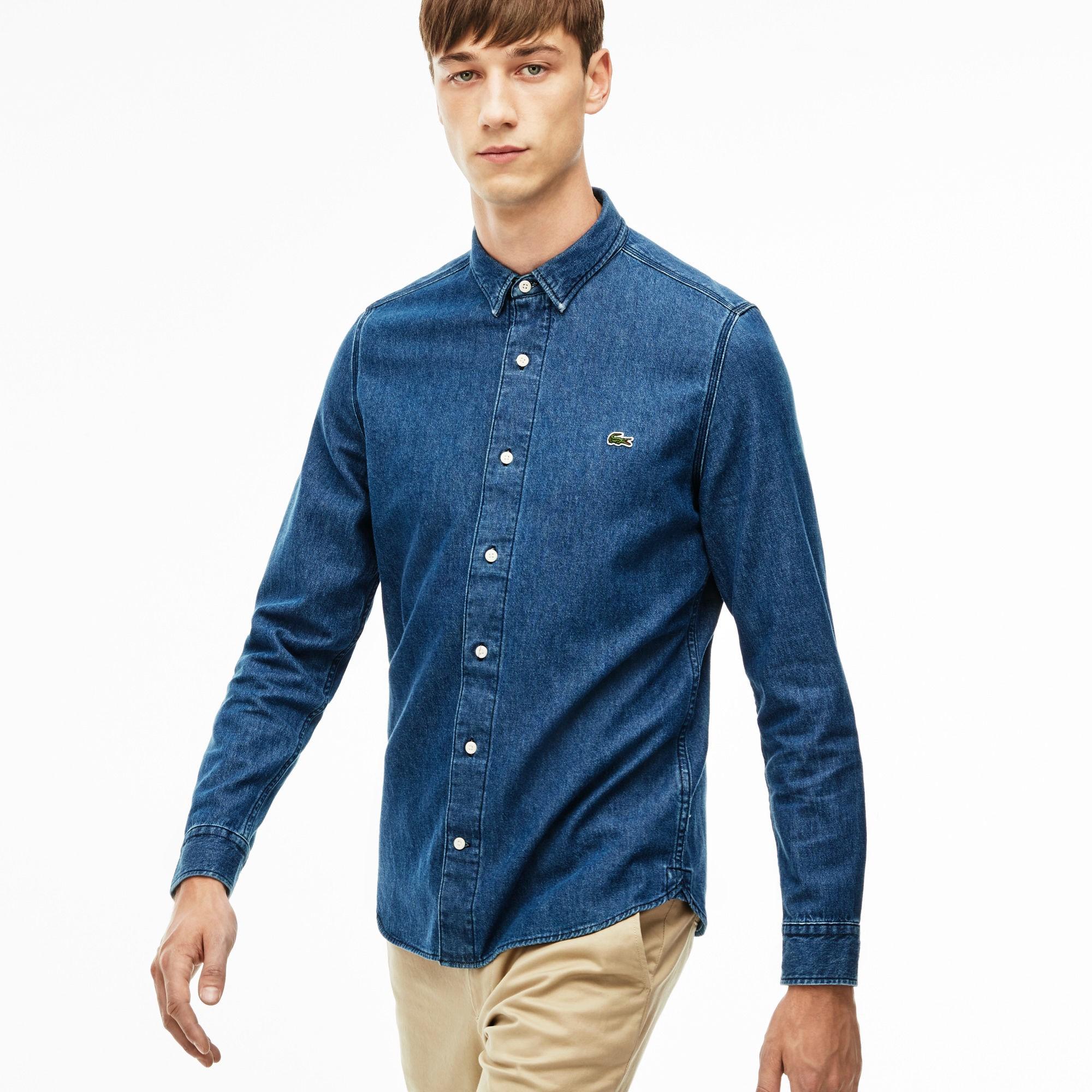 f0c2c0cf27 Men's L!Ve Slim Fit Pocket Denim Shirt