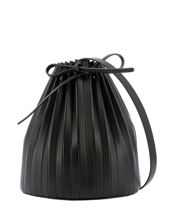 "Mansur Gavriel ""pleated Bucket"" Crossbody Bag In Black"