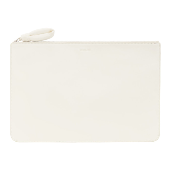 Lemaire White A4 Pouch
