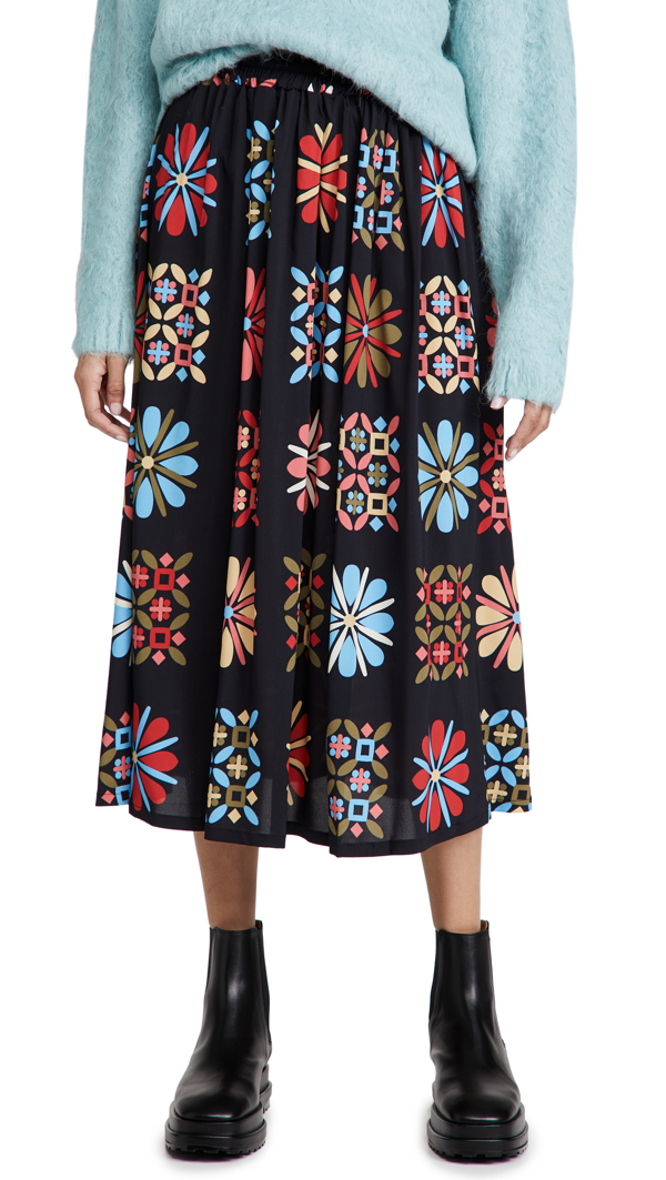 La Doublej Simple Skirt In Vetrata Grande