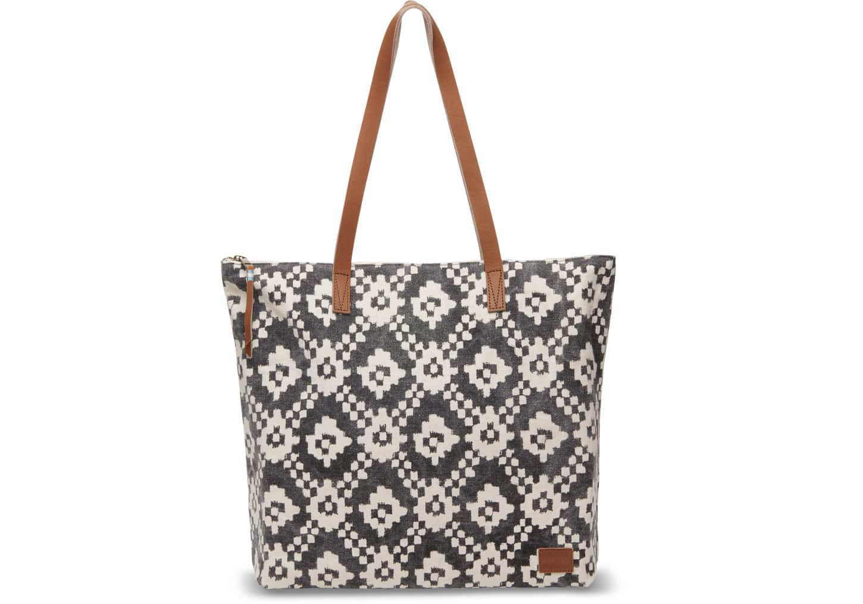 1f3075cdf62 Toms Black Ikat Geometric Textile Cosmopolitan Tote Bag | ModeSens