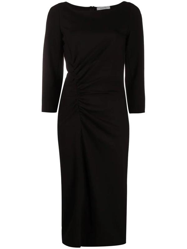 Dorothee Schumacher Emotional Essence Gathered Dress In Black
