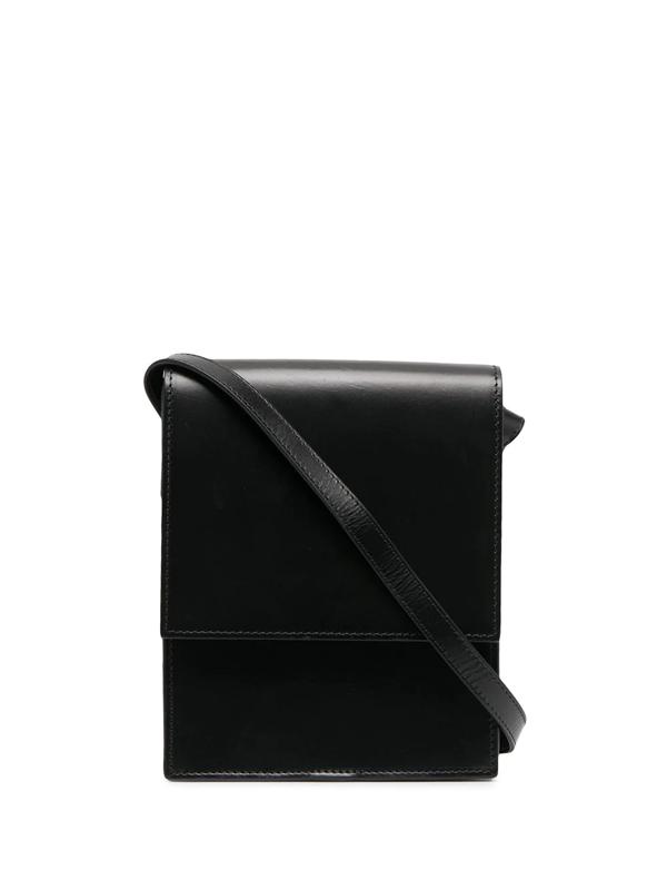 Lemaire Foldover Shoulder Bag In Black