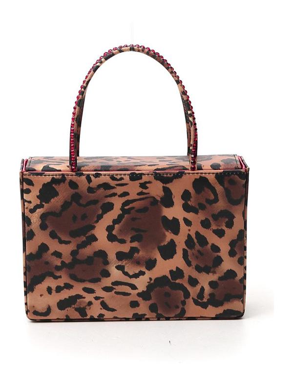 Amina Muaddi Amini Gilda Crystal Satin Box Bag In Multi