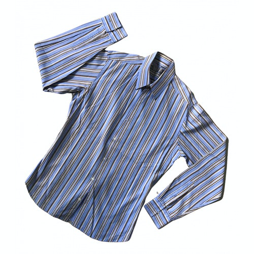 Pre-owned Azzaro Blue Cotton Shirts