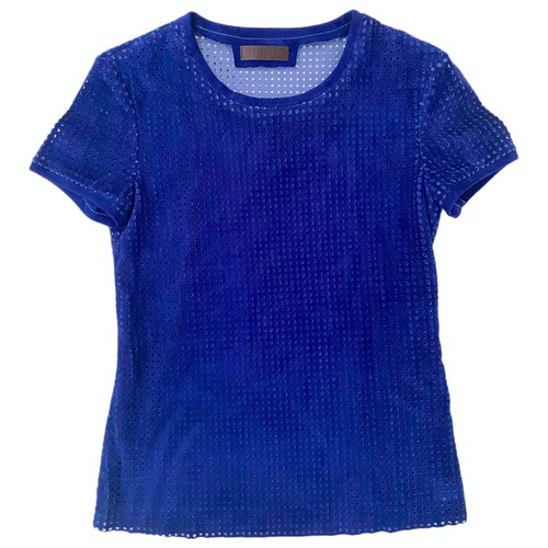 Pre-owned Stouls Blue Suede  Top