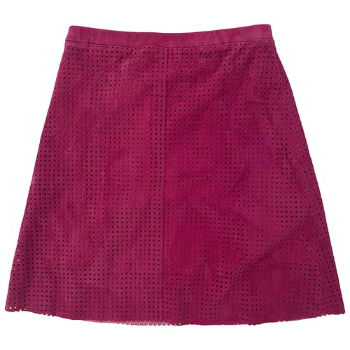 Pre-owned Stouls Pink Suede Skirt