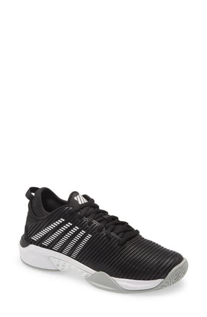 K-swiss Hypercourt Supreme Tennis Shoe In Black/ White/ High-rise