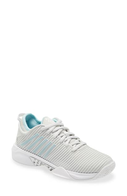 K-swiss Hypercourt Supreme Tennis Shoe In Barely Blue/ White/ Blueglow