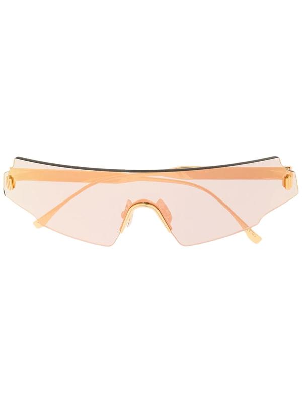 Fendi Mask-frame Sunglasses In Gold