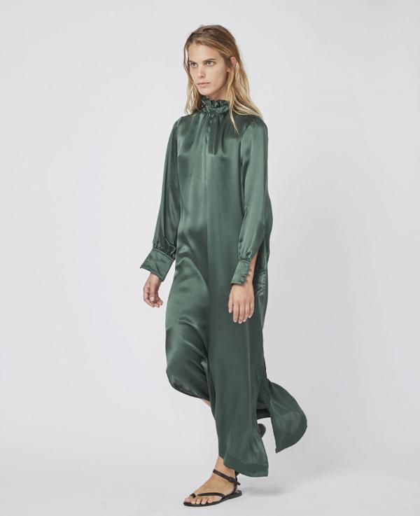 Officine Generale Sofia Dress In Green