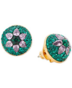 Kate Spade Women's Brilliant Statements Flower Motif Dome Stud Earrings In Green Multi