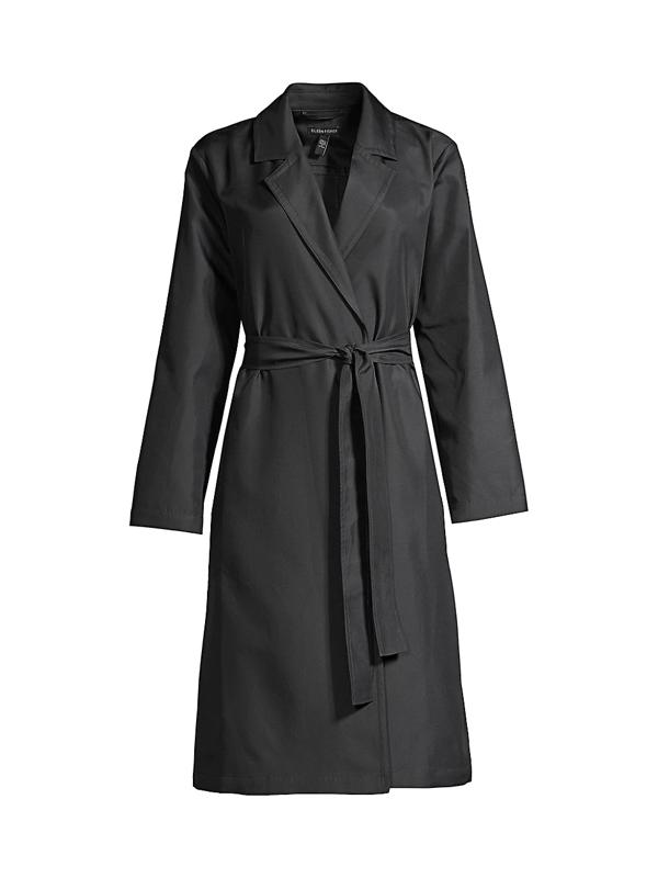 Eileen Fisher Women's Belted Trench Coat In Black