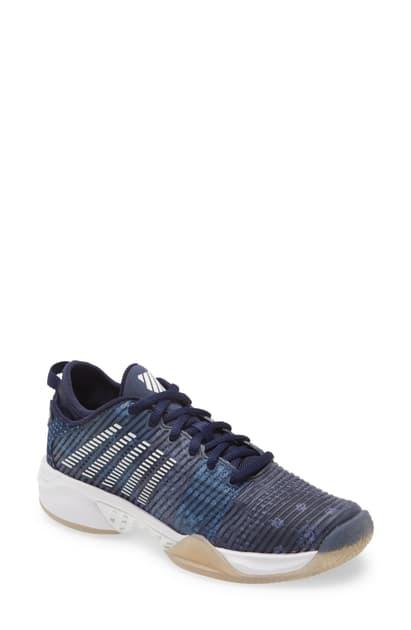 K-swiss Hypercourt Supreme Le Tennis Shoe In Peacoat/ Dark Denim/ White