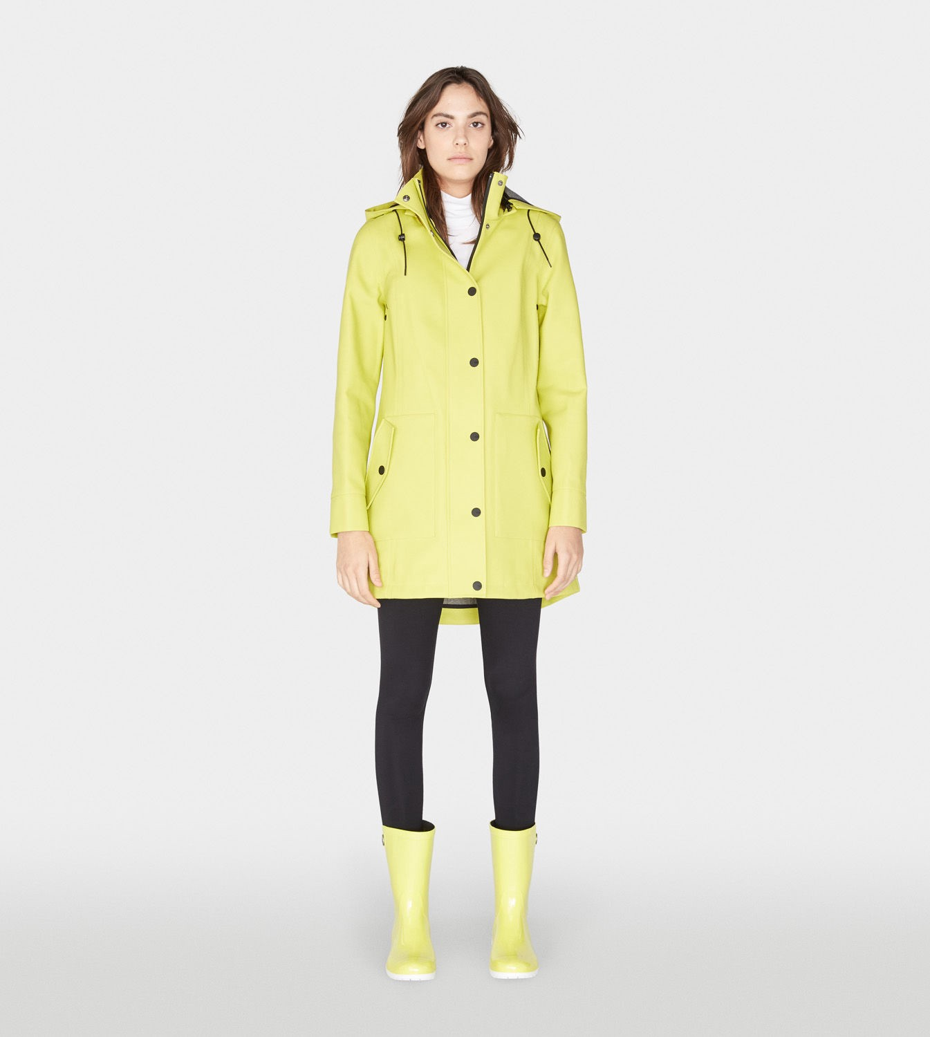a51c7b99ed78 Ugg Weather-Ready Rain Jacket In Neon Lime