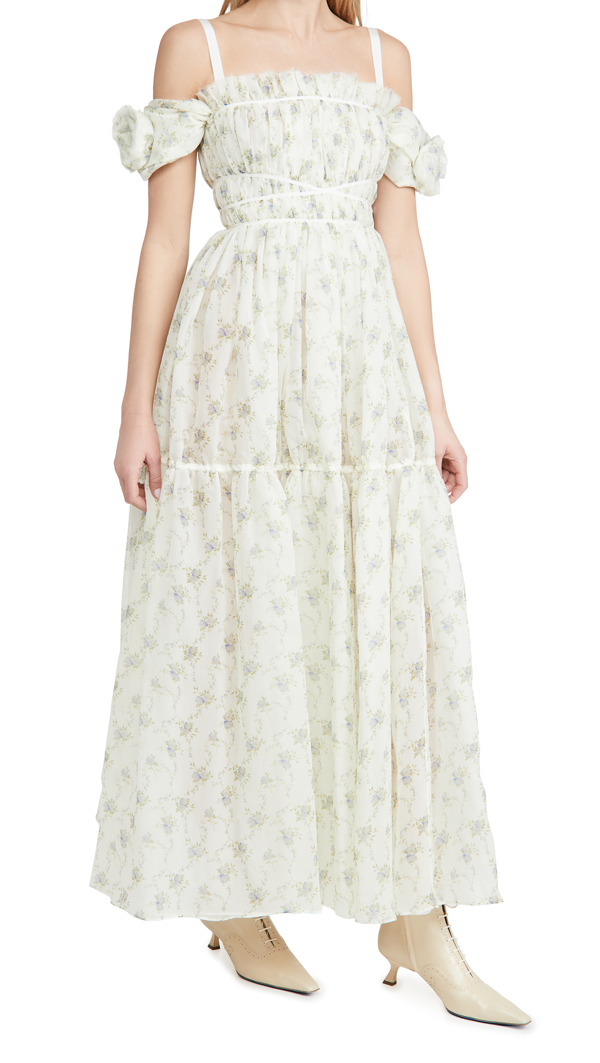 Brock Collection Ladies Woven Rosibel Dress In Natural