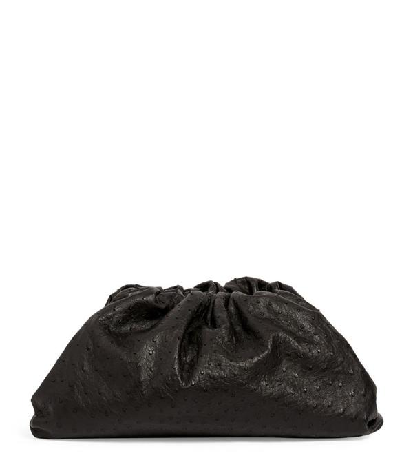 Bottega Veneta Ostrich The Pouch Clutch Bag