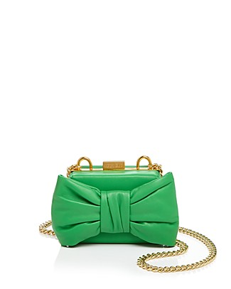 Boutique Moschino Bow Mini Bag In Green