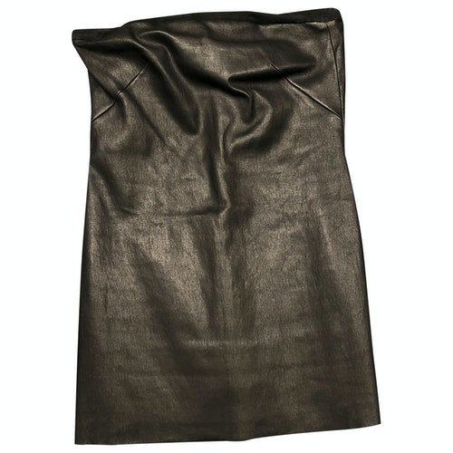 Pre-owned Stouls Black Leather  Top