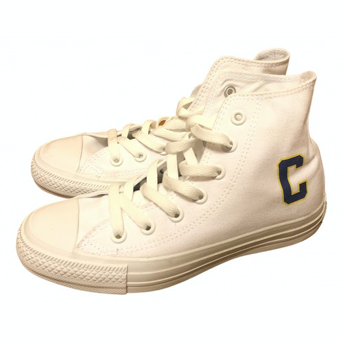Pre-owned Converse Cloth Espadrilles In White