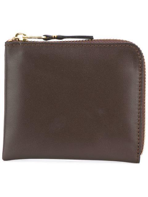 Comme Des GarÇOns Comme Des Garcons Small Zip Wallet In Brown