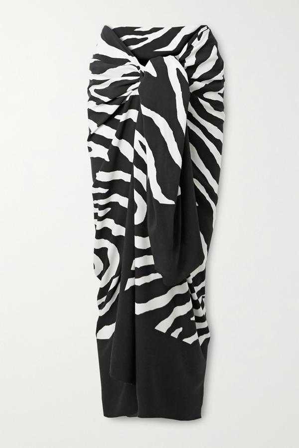 Vix Fiorella Zebra-print Voile Pareo In Zebra Print