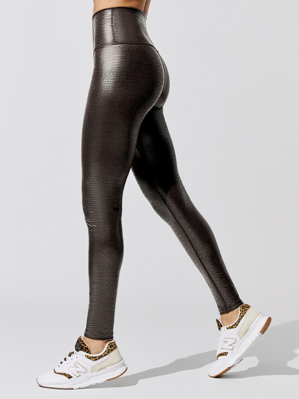 Carbon38 Reptile Shine High Rise Full-length Legging In Leathery Reptile By  - S