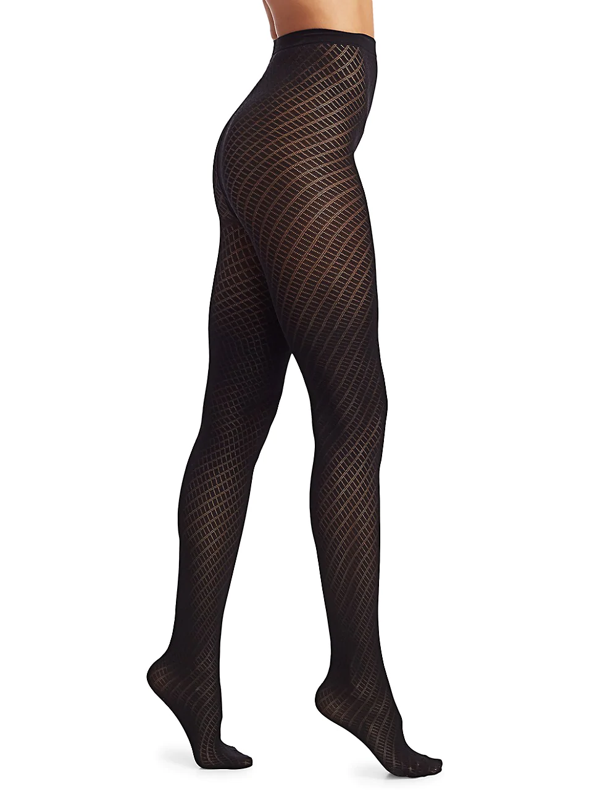 Wolford Women's Gabrielle Patterned Tights In Black