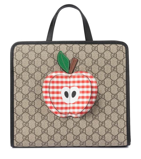 Gucci Kids' Children's Tote Bag With Apple In Beige
