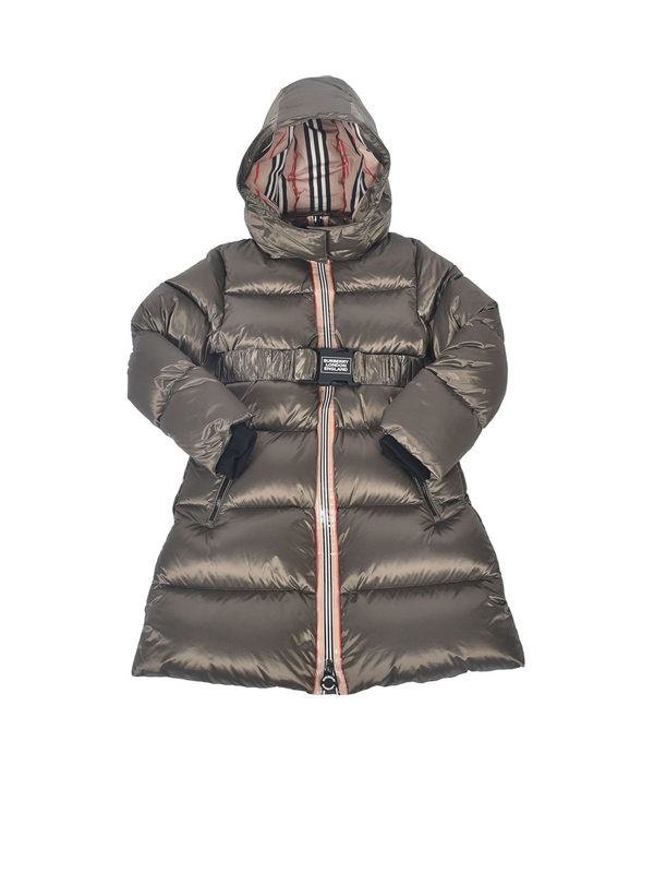 Burberry Kids' Abriana Smoke Down Jacket In Grey