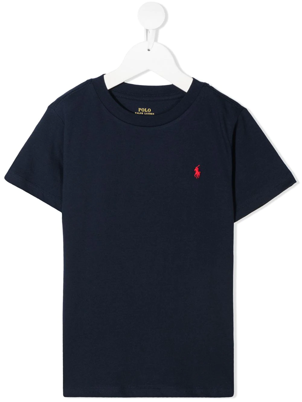 Ralph Lauren Teen Polo Pony Embroidered T-shirt In Blue