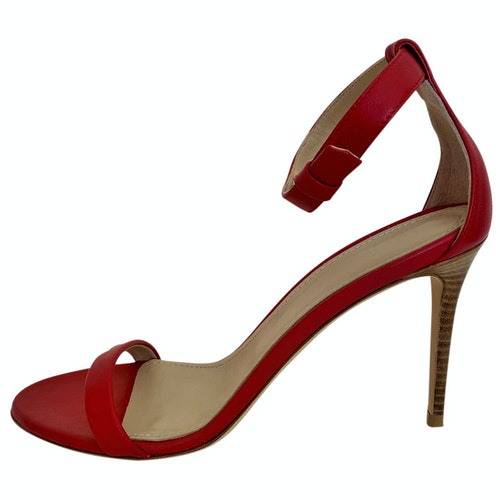Pre-owned Theory Red Leather Heels