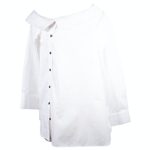 Pre-owned Monographie White Cotton  Top