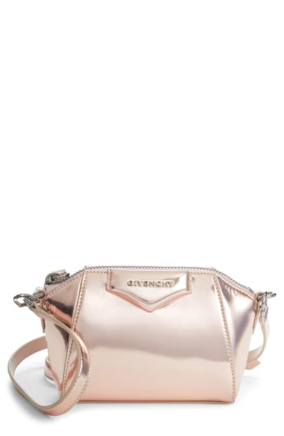 Givenchy Nano Antigona Leather Crossbody Bag In 681-light Pink