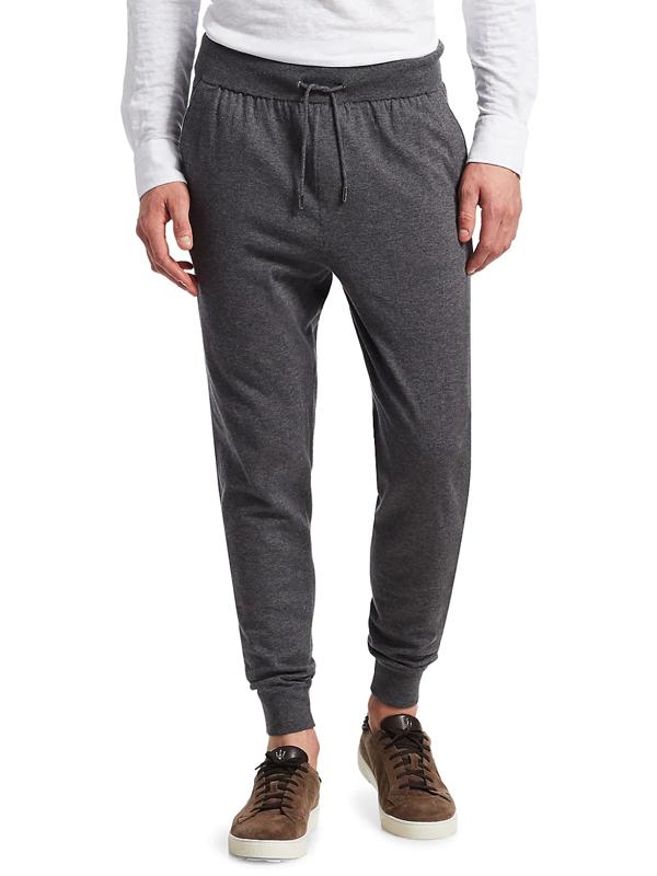 Ermenegildo Zegna Men's Wool Jogger Pants In Grey