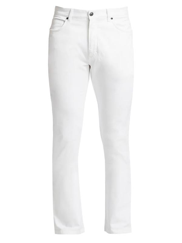 Ermenegildo Zegna Men's Straight Leg Five-pocket Jeans In White
