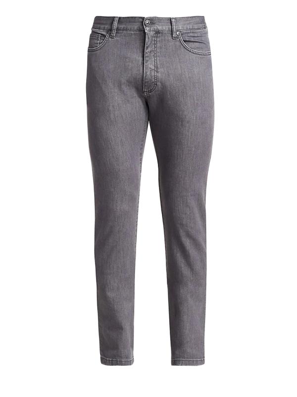 Ermenegildo Zegna Men's Skinny Jeans In Grey