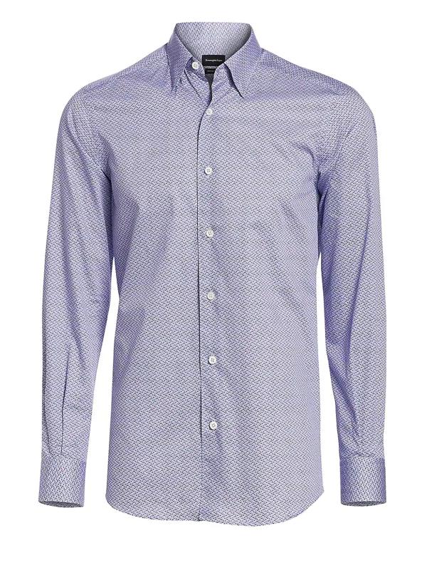 Ermenegildo Zegna Men's Snrokel Centoquanta Gingham Button-down Shirt In Light Blue