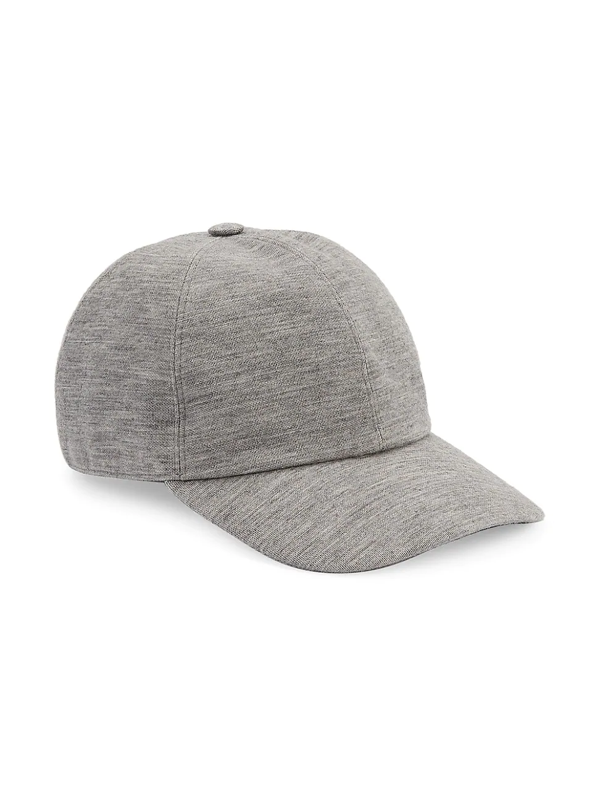 Ermenegildo Zegna Men's Wool Baseball Cap In Grey