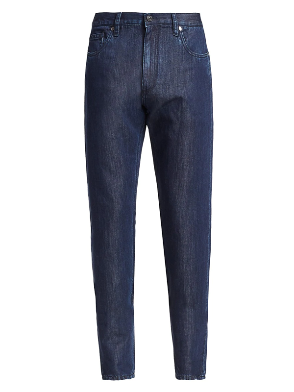 Ermenegildo Zegna Men's Five-pocket Cotton & Linen Jeans In Blue