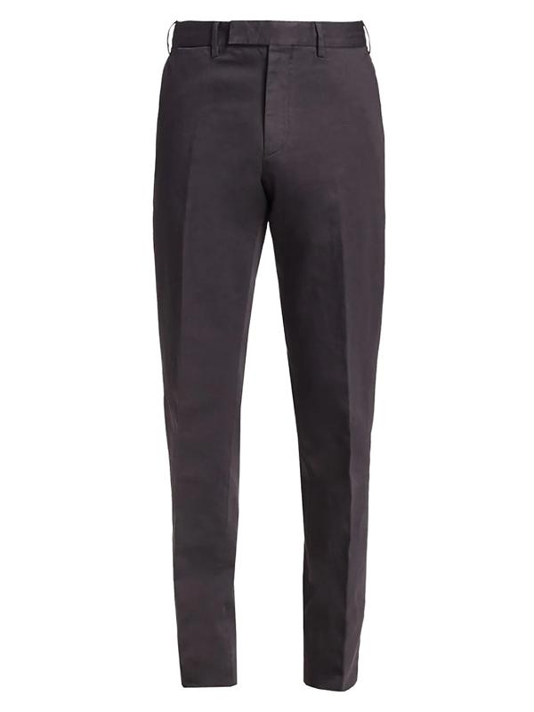 Ermenegildo Zegna Men's Cotton & Linen Trousers In Grey