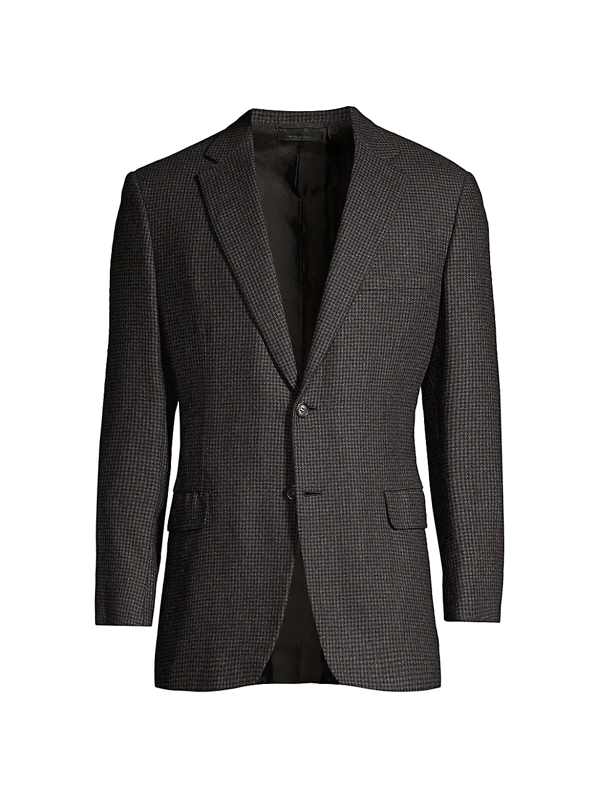 Brioni Men's Houndstooth Cashmere Sportcoat In Brown