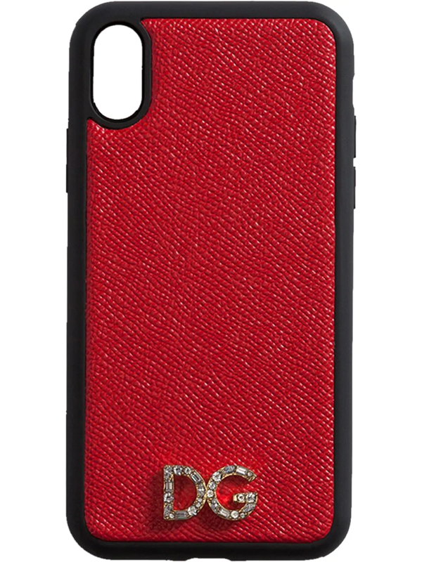 Dolce & Gabbana Two-tone Logo Plaque Iphone Case In Red