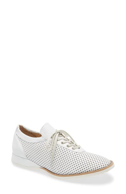 Amalfi By Rangoni Ethan Perforated Sneaker In White Leather