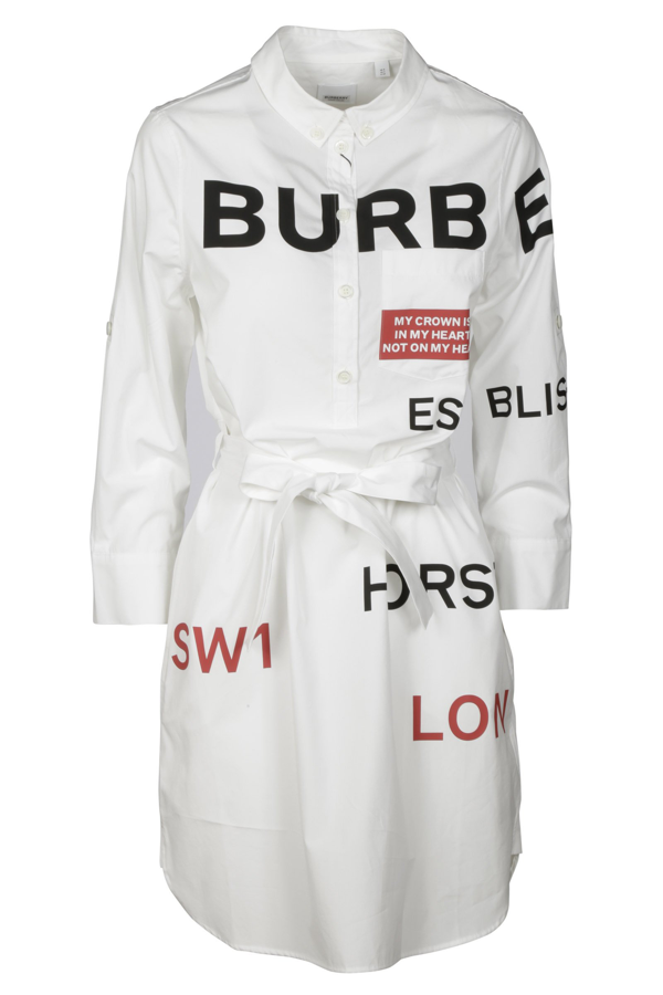 Burberry Dresses In Bianco