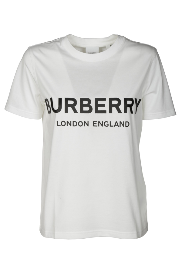 Burberry T-shirts And Polos In Bianco