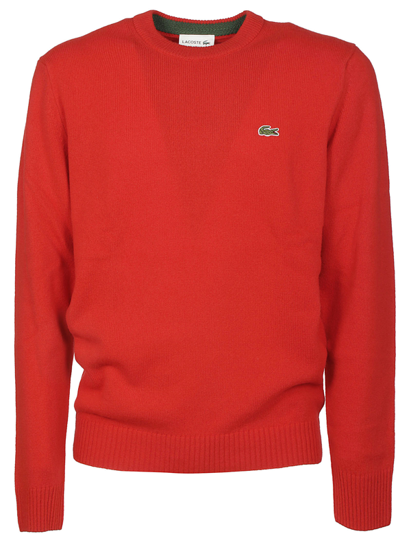 Lacoste Sweaters In Rosso