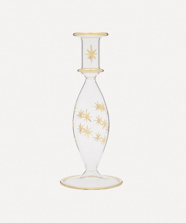 Anna + Nina Starry Glass Candle Holder In Multicolour