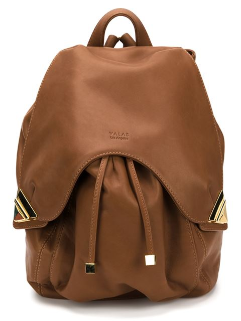 Valas Leather Backpack In Brown